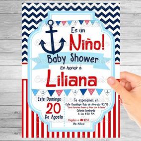 Invitación Digital Baby Shower Marinero