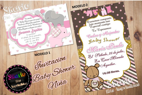 invitación digital baby shower niña