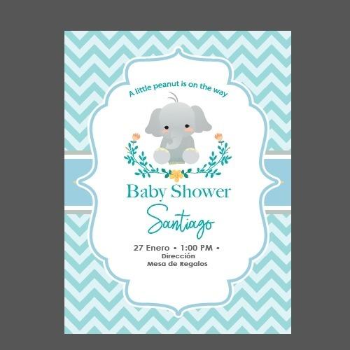 Invitacion Digital Baby Shower Nino
