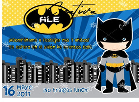 Invitación Digital Batman