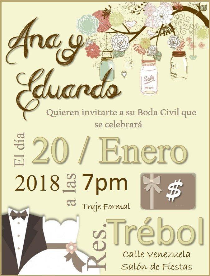 Invitacion Digital Boda Matrimonio