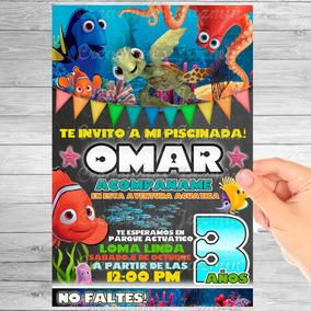 Lonas De Buscando A Nemo Invitaciones Y Tarjetas Nuevo En