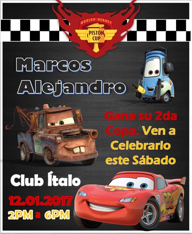 Invitaciones Del Cars www picswe net