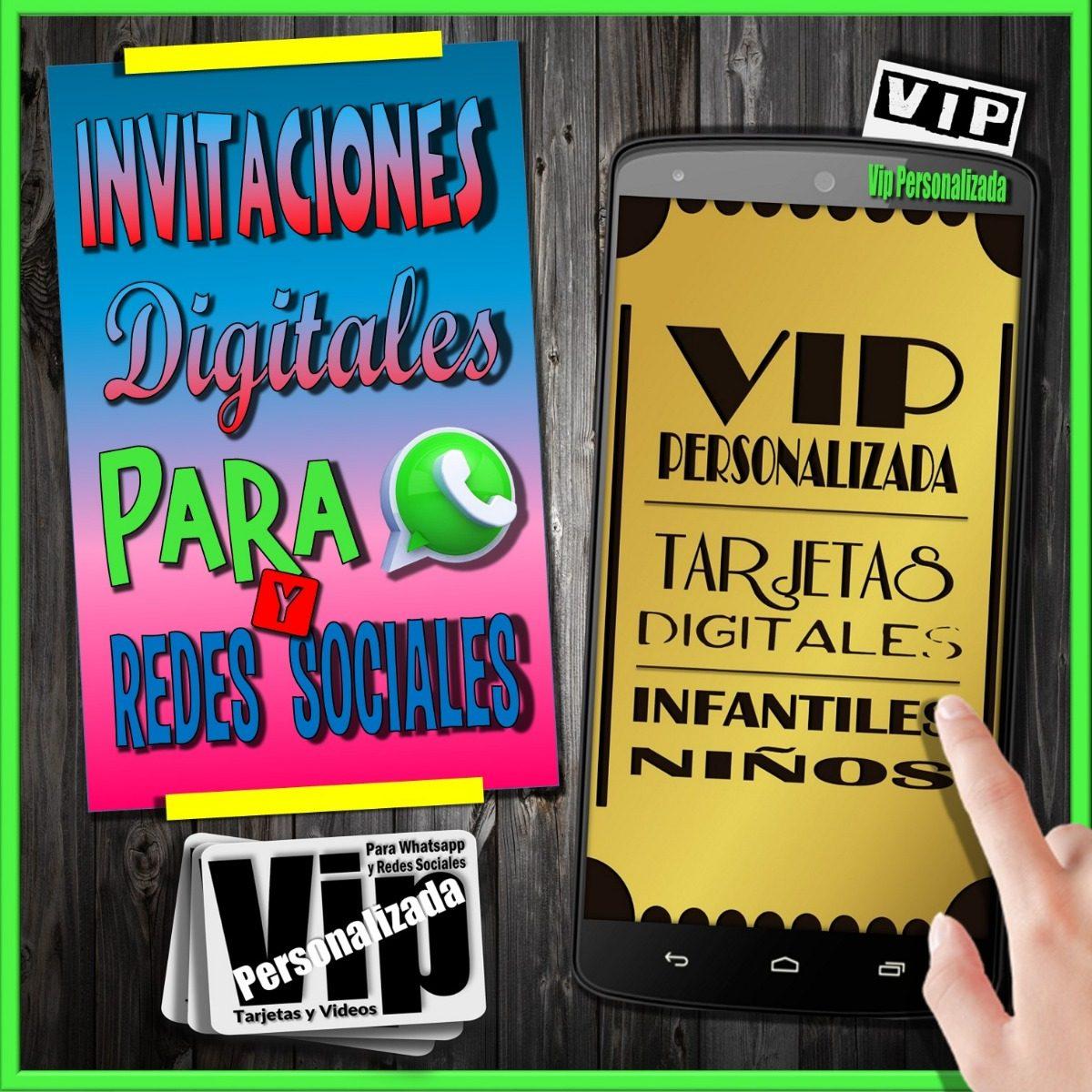 Invitacion Digital Cumpleaños Bautismos Originales