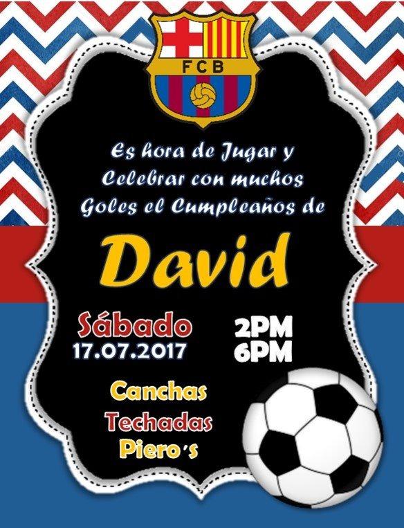 Invitacion Digital De Futbol Real Madrid Barcelona