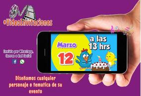 Invitacion Digital En Video Gallina Pintadita Mini