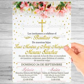 Invitacion Digital Flores Baby Shower Bautizo Xv Años Etc