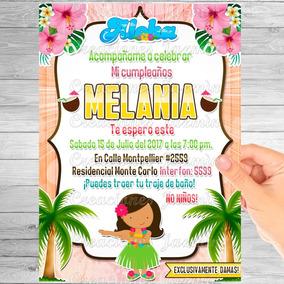 Invitaciones Hawaiana La Exploradora De Dora RecuerdosCotillón Y vm0N8nwO