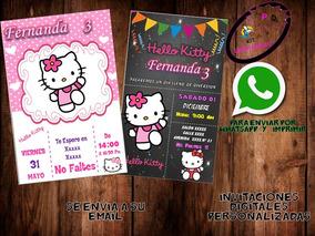 Invitación Digital Hello Kitty Cumpleaños