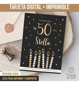 Invitación Digital Imprimible Cumpleaños P Hombre O Mujer