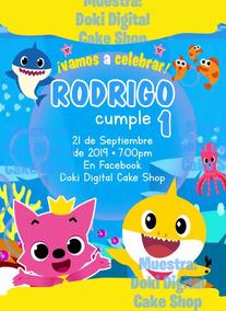 Invitación Digital Imprimible De Baby Shark