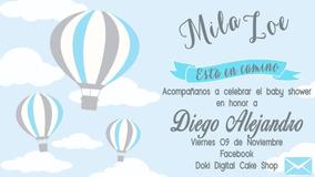 Invitación Digital Imprimible De Globos Aerostáticos
