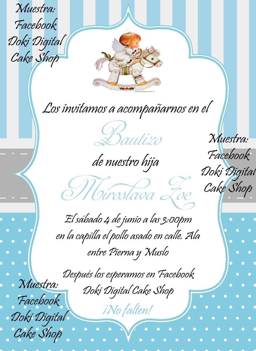 Invitacion A Bautizo Niña