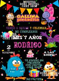 Invitación Digital Imprimible Pizarra De Gallina Pintadita