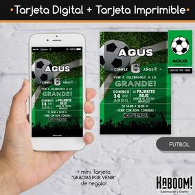 Invitación Digital Imprimible Tags Pdf Futbol Boca River