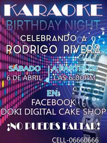 Invitacion Digital Imprimible Tema Karaoke