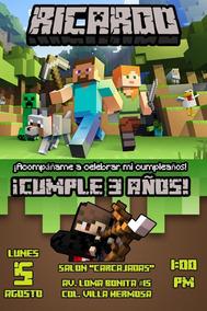 Cubre Cama De Minecraft Invitaciones Y Tarjetas En Mercado