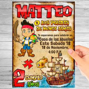 Lapiceras Jake Piratas Invitaciones Y Tarjetas De