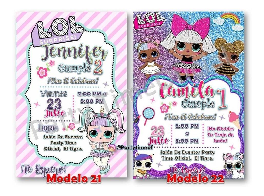 Invitación Digital Lol Surprise Glitters Tarjeta Whatsapp