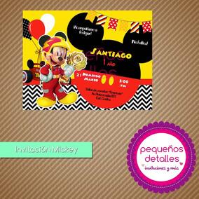 Invitación Digital Mickey Aventuras Sobre Ruedas