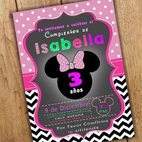 Invitacion De Minnie Invitaciones Y Tarjetas Por Por