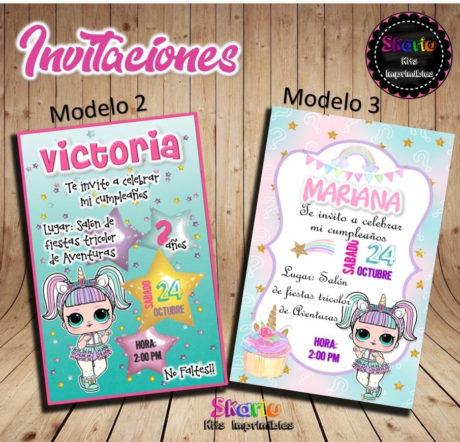 Invitaci 243 N Digital Mu 241 Ecas Lol Surprise Unicornio M 225 Gico