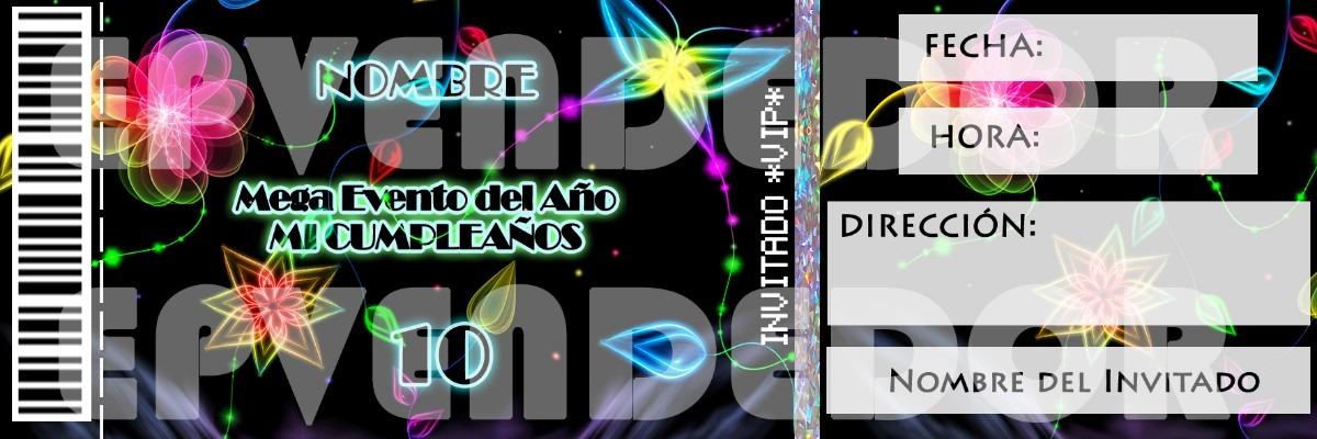Invitacion Digital Neon Epvendedor