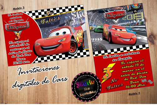 invitación digital para whatsapp spiderman, cars superman