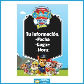 Invitación Digital Paw Patrol Calidad Premium