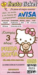 Invitación Digital Personalizada Hello Kitty