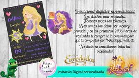 Invitación Digital Personalizada Rapunzel