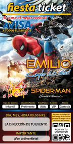Invitación Digital Personalizada Spiderman Home Coming
