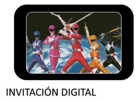 Invitación Digital Power Rangers