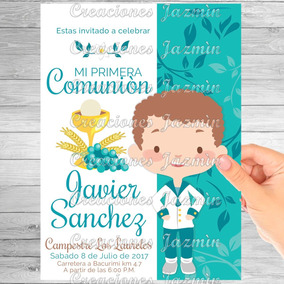 Invitacion Digital Primera Comunion Niño