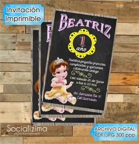 Invitacion Digital Princesa Bella Bebe