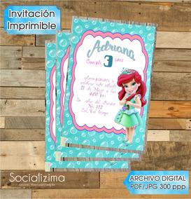 Invitacion Digital Sirenita Ariel 3