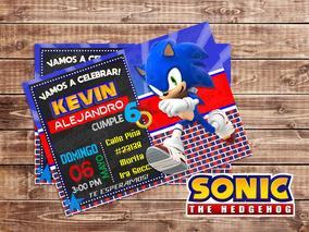 Invitacion Digital Sonic