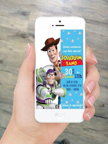 invitación digital toy story tarjeta de cumpleaños tortas