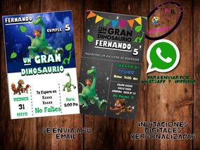 Invitación Digital Un Gran Dinosaurio Cumpleaños