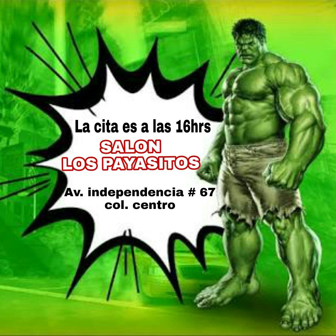 invitacion digital video - hulk hombre verde