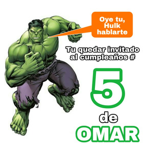 Invitacion Digital Video Hulk Hombre Verde