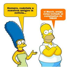 Invitacion Digital Video Los Simpson Homero Bart March