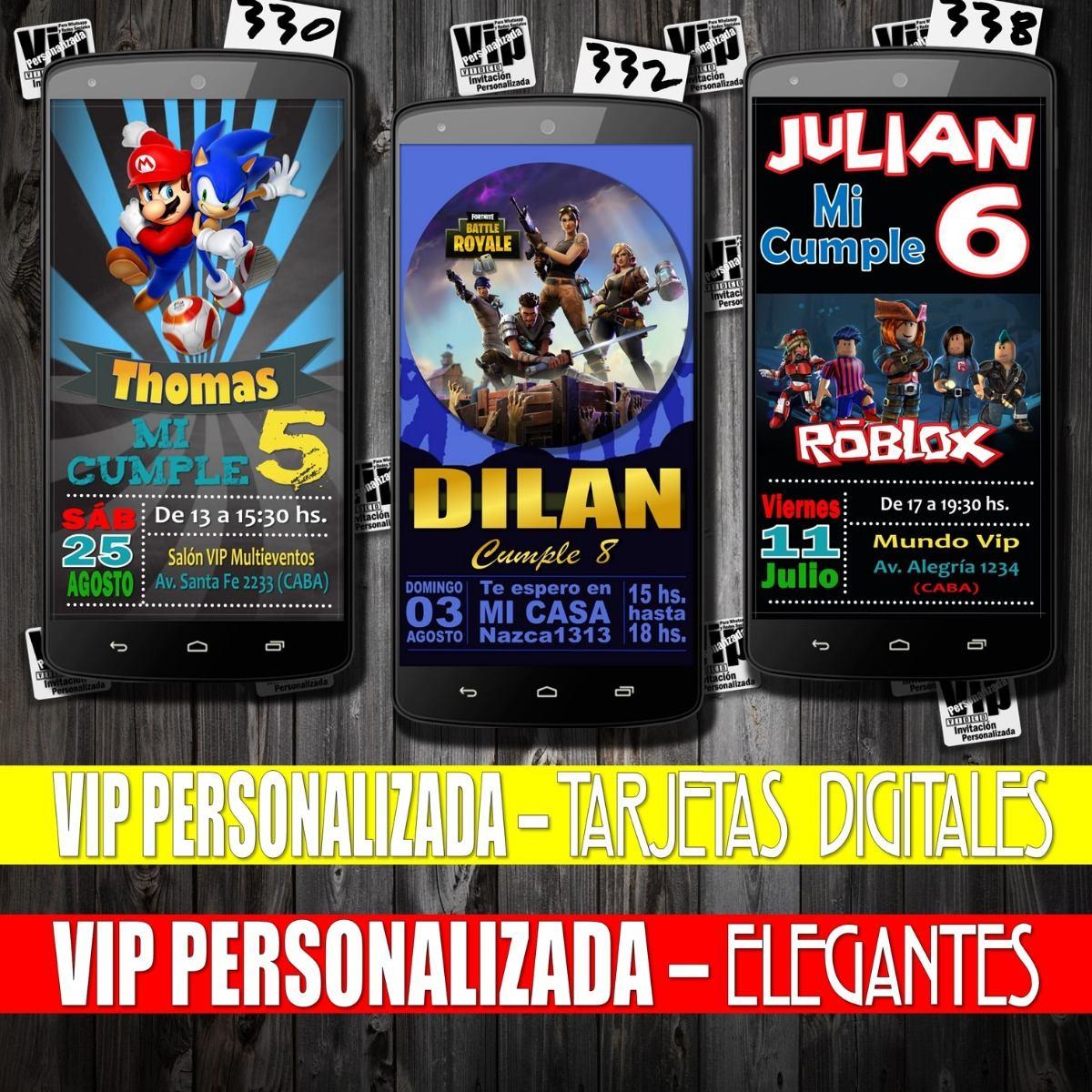 Invitacion Digital Videos Juegos Famosos Cumpleanos 99 99 En