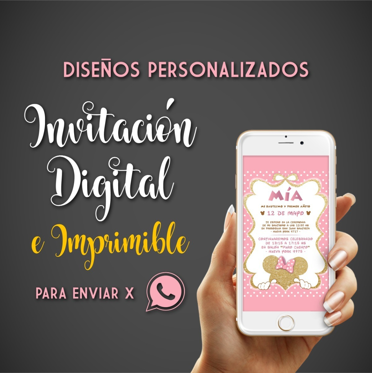 Invitación Digital Virtual Whatsapp Cumple Infantil 15 Años