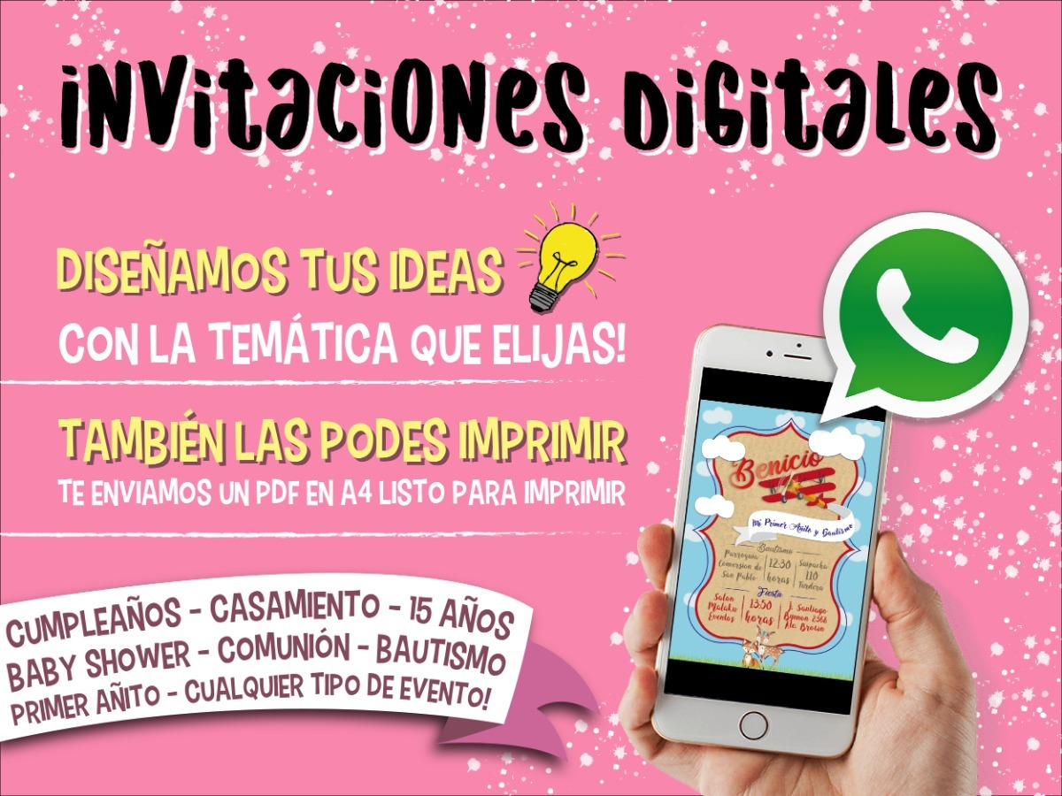 eae278ee674 Invitación Digital Virtual Whatsapp Cumple Infantil, 15 Años - $ 250 ...