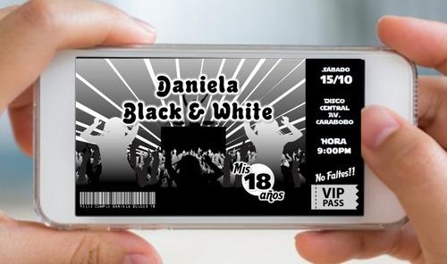 invitación digitales whatsapp modernas 15 años 16 años y 18