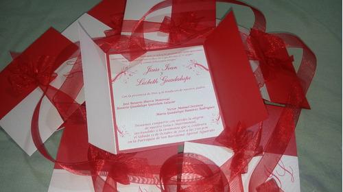 invitacion doble color.. boda, xv años, etc
