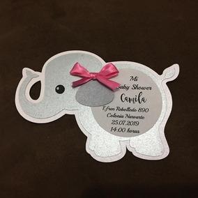 Invitaciones De Elefante De Nino Para Baby Shower En Mercado Libre