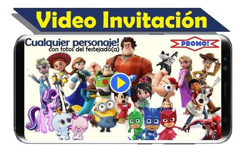 invitacion en video promocion