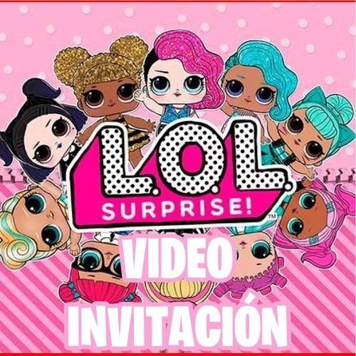 db1d770ec48 Invitación Fiesta De Cumpleaños Lol Surprise - $ 200,00 en Mercado Libre